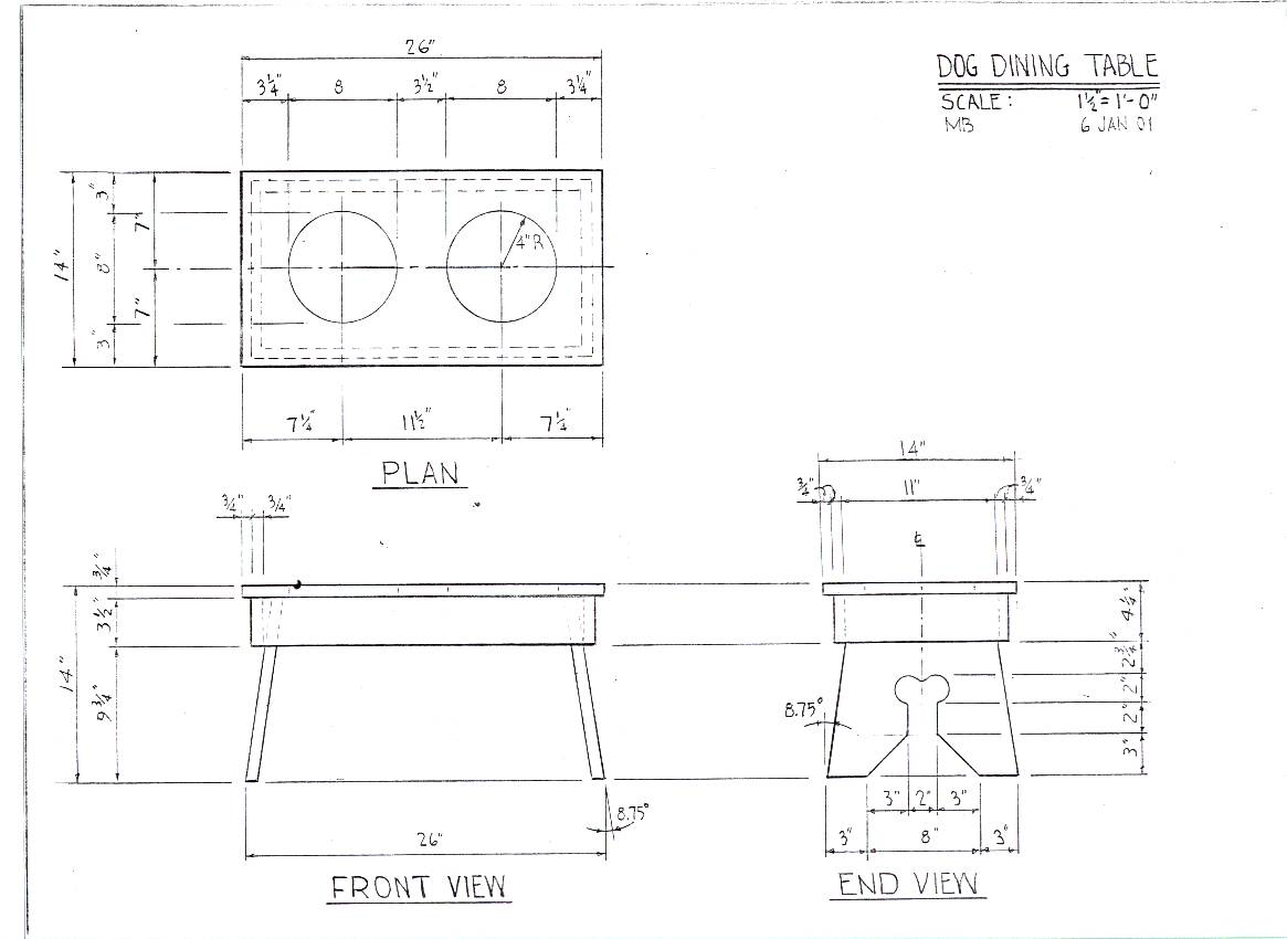 Diy dining table blueprints plans free for Blueprint plan table